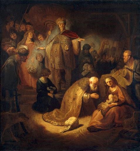 05 -Rembrandt-Kerst-geboorte-van-Jezus-schilderij-Kerstmis